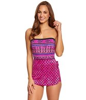 Maxine Island Paisley Bandeau Sarong One Piece Swimsuit