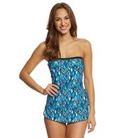 Maxine Geo Gem Bandeau Sarong One Piece Swimsuit