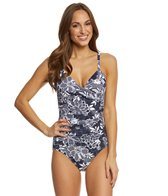 Penbrooke Petaled Twist Front One Piece Swimsuit