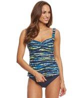 TYR Women's Bellvue Stripe Twisted Bra Tankini Top