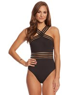 Kenneth Cole Stompin' In My Stilettos High Neck One Piece Swimsuit