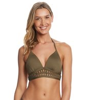 Kenneth Cole Weave Your Own Way Push Up Halter Bikini Top