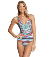 Kenneth Cole Reaction Adventure Awaits Plunge One Piece Swimsuit