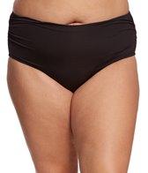 Kenneth Cole Reaction Plus Size Gypsy Gem Shirred Bikini Bottom