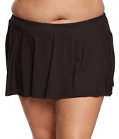 Kenneth Cole Reaction Plus Size Dream Weaver Flyaway Skirted Bikini Bottom