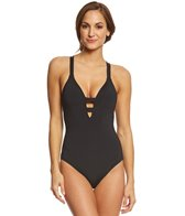 Seafolly Women's Active Deep V One Piece Swimsuit
