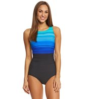 Reebok Women's Desert Rays High Neck One Piece Swimsuit