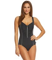 Reebok Women's Metallic Tank One Piece Swimsuit