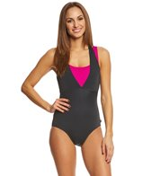 Reebok Women's On the Double One Piece Swimsuit