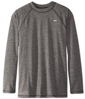 Nike Men's Solid Heather L/S Rashguard