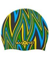 Amanzi Ignite Blue Silicone Swim Cap