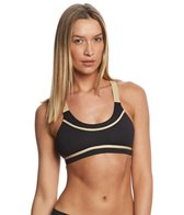 Luli Fama Women's Warrior Spirit Cross Back Sport Bra Top