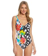Anne Cole Growing Floral One Piece Swimsuit