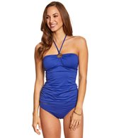 Michael Kors Swimwear Essentials Shirred Bandini Top