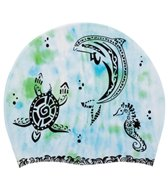 Sporti Aquatic Tribal Silicone Swim Cap