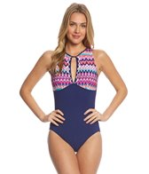 Profile by Gottex Tequila High Neck One Piece Swimsuit
