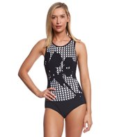 Profile by Gottex Rambling Rose High Neck One Piece Swimsuit