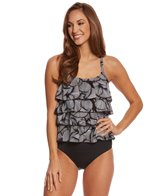 Ceeb Sanibel Shells Ruffle Tankini Top