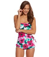 Ceeb Hibiscus Bandeau Sarong One Piece Swimsuit