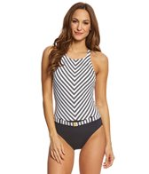 BLEU Rod Beattie Cruise Control High Neck X-Back One Piece Swimsuit