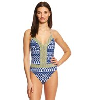 BLEU Rod Beattie Road To Morocco Plunge Halter One Piece Swimsuit