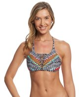 Jessica Simpson Swimwear Dakota Placement Reversible Strap Triangle Bikini Top
