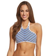 Jessica Simpson Swimwear Maritime High Neck Halter Bikini Top