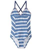 Splendid Girls' Chambray Cottage One Piece Swimsuit (7-14)