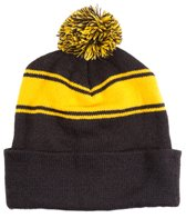 SwimOutlet Stripe Pom Pom Beanie