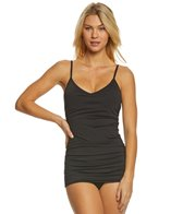 Vince Camuto Riviera Solid Shirred Swimdress