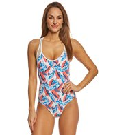 Vince Camuto Rainforest Racer Back One Piece Swimsuit
