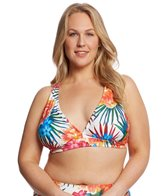 Sunsets Plus Size Fiji Flora Queen 2-Way Bikini Top (E/F Cup)