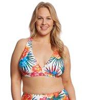 Sunsets Plus Size Fiji Flora Queen 2-Way Bikini Top (D/DD Cup)