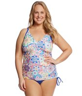 Sunsets Plus Size Mambo Emme Tankini Top (D/DD Cup)