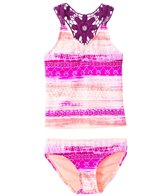 Gossip Girls' Boho Sunset Tankini Set (7-16)