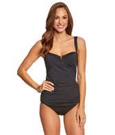 Tommy Bahama Pearl Solids Side Shirred Long Tankini Top