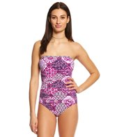 Tommy Bahama Tiles of Tropic Bandeau One Piece Swimsuit