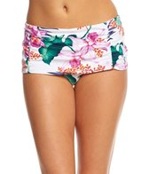 Tommy Bahama Orchid Canopy High Waist Shirred Bikini Bottom