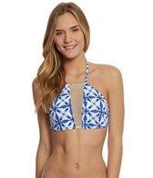 Bikini Lab Swimwear Tie-Dye Another Day High Neck Bikini Top