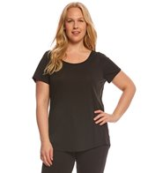 Lucy Women's Short Sleeve Plus Size Workout Tee