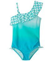 Raisins Girls' Mermaid Bay Half Moon Tank One Piece Swimsuit (4-6X)