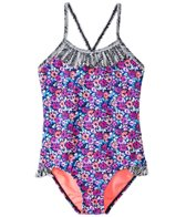 Raisins Girls' Jungle Floral Mini Sweet Tart Tank One Piece Swimsuit (4-6X)