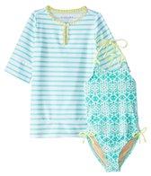 Cabana Life Girls' UPF 50+ Sunshine Shores Swimsuit & Cover Up Set (2T-6X)