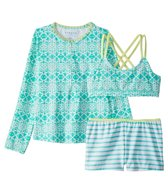 Cabana Life Girls' UPF 50+ Sunshine Shores Two Piece Bikini Set (7-14)