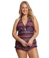 Jessica Simpson Swimwear Plus Size Cherokee Queen Retro One Piece Swimsuit