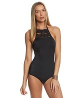 Coco Rave Wild and Fringe Piper High Neck Halter One Piece Swimsuit