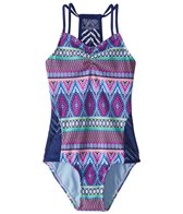 Gossip Girls' Stripe Fusion One Piece Swimsuit (7-16)