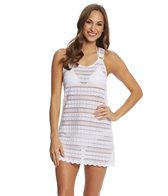J.Valdi Circle Stripe Crochet Ring Tank Dress