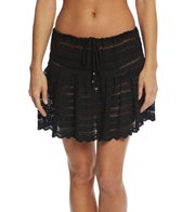 J.Valdi Circle Stripe Crochet Ruffle Skirt