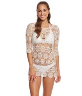 J.Valdi Medallion Crochet Boat Neck Tunic